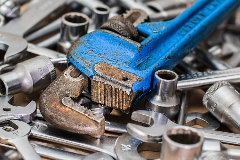 wrench, spanner, repair